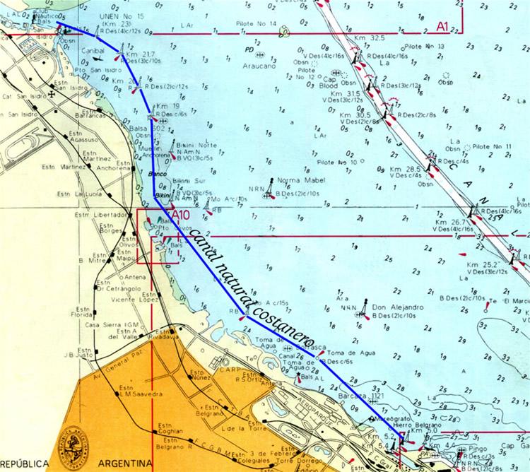 canal costanero y el Emilio Mitre